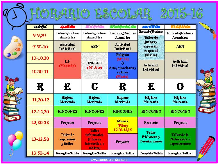 Horario 2015-16